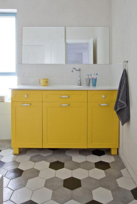 ארון דגם אופק כפרי-צבעוני חדרי מקלחת ילדים.
