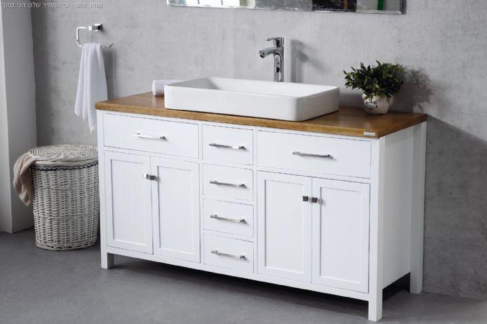 ארון אמבט כפרי דגם הראל- יבוא HB אמבט חלומי אספקה מיידית.