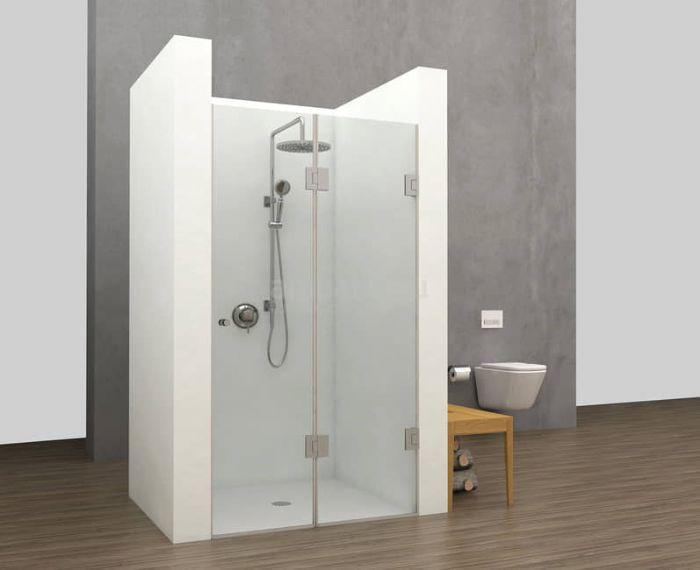 מקלחון צירים חזית 2 דלתות מתקפל הרמוניקה מותאם לפי מידה רצויה.