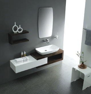 מודרניסטית אמבט חלומי-ארונות אמבטיה.מקלחונים.אביזרי אמבטיה .הכל לאמבט - כיור JH-69