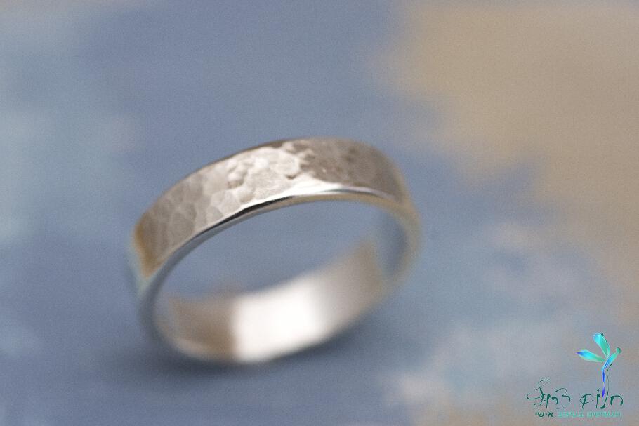 טבעת מכסף סטרלינג מרוקעת