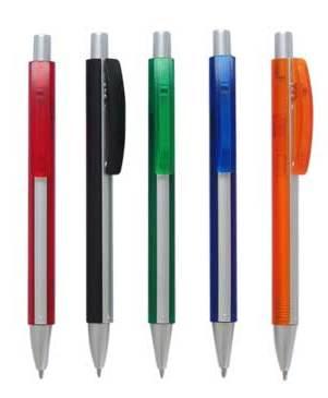 """עט פרסומי מעוצב """"סילברדו"""" עם פס כסוף  - 3775"""