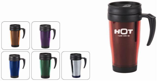 כוסות טרמיות מפלסטיק במגוון צבעים - 3387