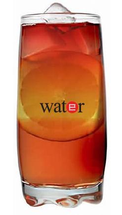 כוס זכוכית גבוהה מעוצבת לשתייה קרה - 3424