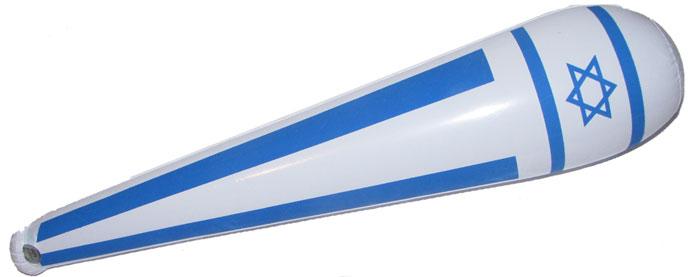 """נבוט מתנפח """"דגל ישראל"""" גדול (80 ס""""מ) - 3522"""