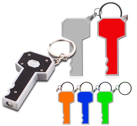 מחזיק מפתחות פנס לד בצורת מפתח - 1692
