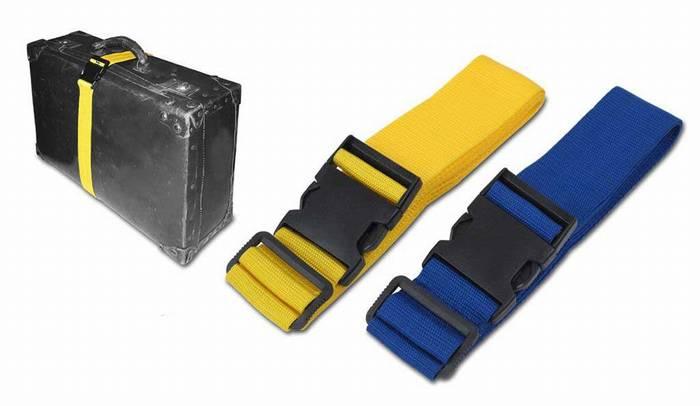 רצועת אבטחה למזוודה עם מקום ללוגו - 1396