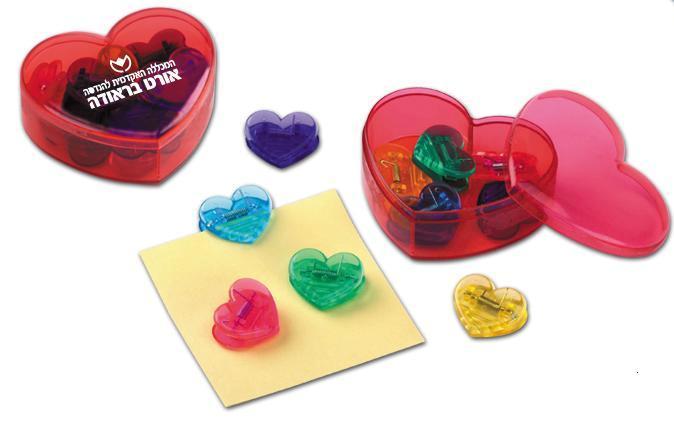 """קופסאת פלסטיק """"ליבי""""  עם 10 קליפסים - 4112"""
