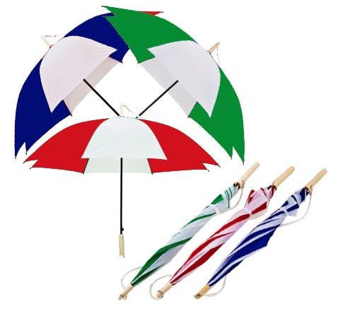 """מטרייה """"23"""" משולבת צבעים עם ידית מעץ - 4012"""