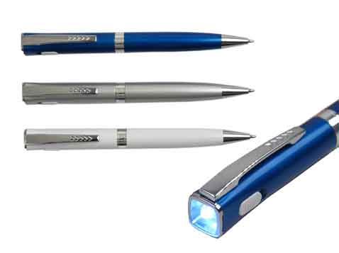 """""""שארפ"""" עט כדורי עם פנס לד - 4134"""