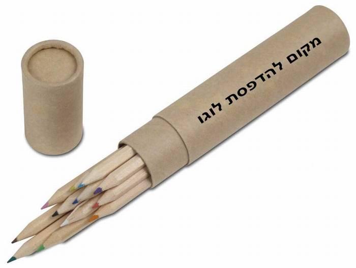 """""""גרין-ליין"""" מארז 12 עפרונות בגליל ממוחזר - 4217"""