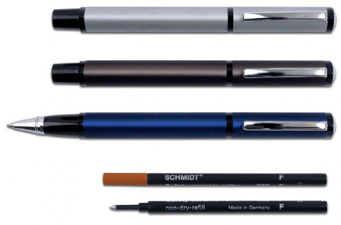 """""""ג'קוזי"""" עט רולר מתכתי בעיצוב משולש - 2734"""