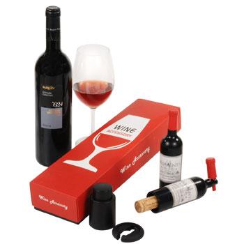 פותחן יין פקק שעם בעיצוב בקבוק - 4068