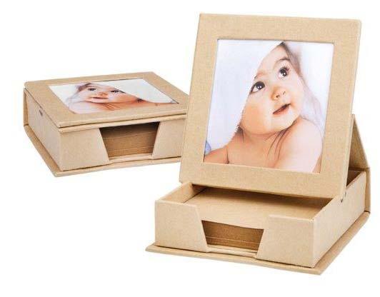 קוביית נייר ממוחזרת עם מקום לתמונה - 4227