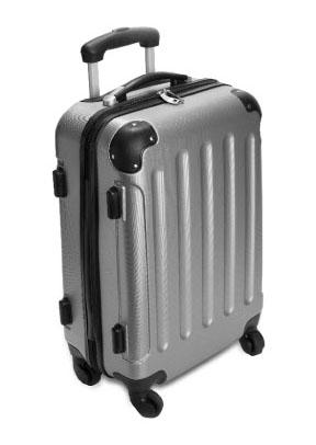 מזוודה קשיחה עשויה ABS קשיח  מתרחבת לאחסון מירבי, 4 גלגלים כפולים - 3671