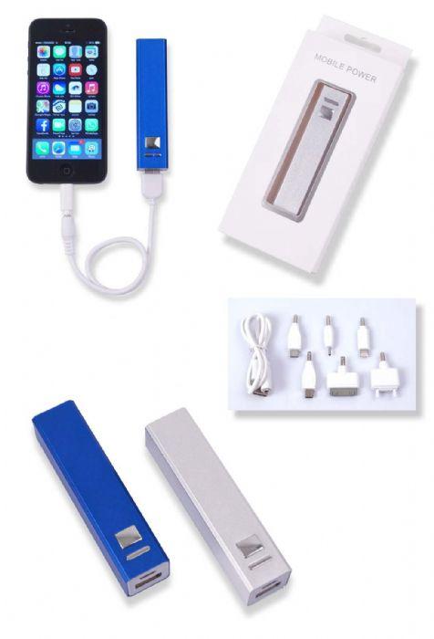סוללת גיבוי ממתכת נטענת USB לטלפונים ניידים - 3876