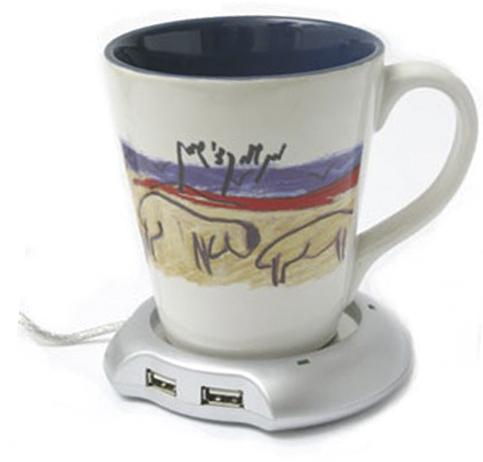 """פלטת חימום לקפה עם מפצל 4 יציאות יו-אס-בי מק""""ט 2206"""