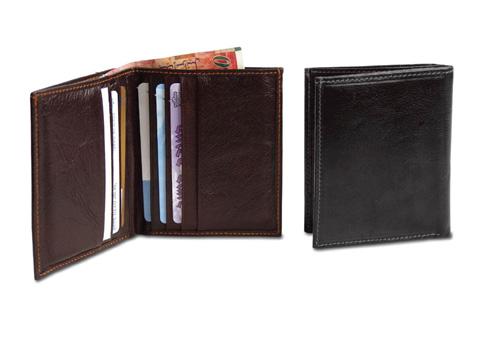 ארנק עור איכותי לכרטיסי אשראי ושטרות כסף - 2353
