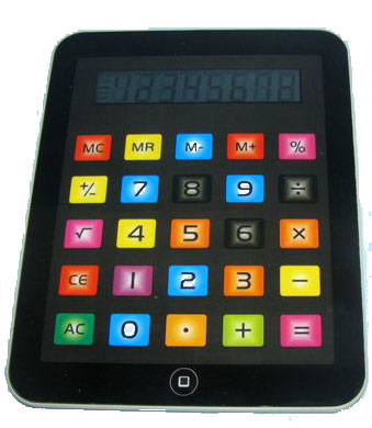 """מחשבון שולחני מעוצב בעיצוב """"אייפד"""" - 2420"""