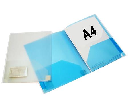פולדר A4 עשוי פוליפרופילן עם כיסי צד- 3613