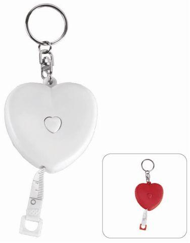 מחזיק מפתחות מטר מדידה קםיצי בצורת לב - 1627
