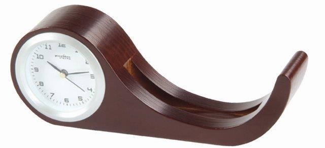 מעמד שעון שולחני מעץ מהגוני - 2840