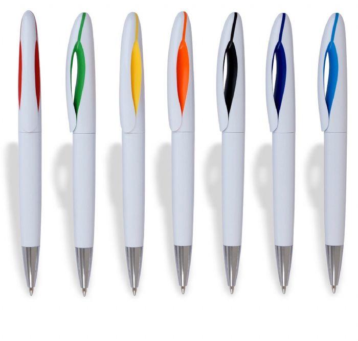 """""""פיש לבן"""" עט כדורי בעיצוב חדשני שילובי לבן - 2163"""