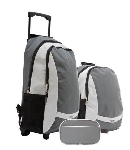 תיק נסיעות שלושה חלקים - תיק גב - טרול - תיק רחצה - 2364