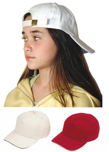 כובעים לילדים מכותנה מלאה עם סגירת אבזם - 1415