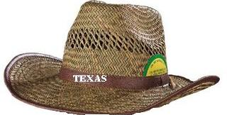 כובעי בוקרים קש עם שרוך מתכוונן - 1421