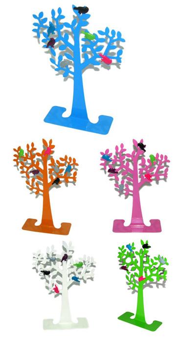 עץ ממו מתכתי עם ציפורים מגנטיות - 1215