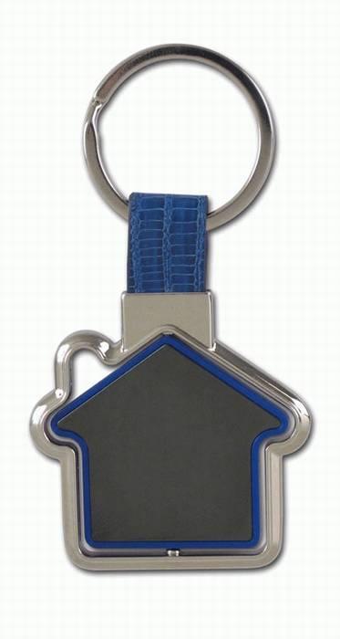 מחזיק מפתחות בית מסתובב מעוצב מתכת ועור  - 1642