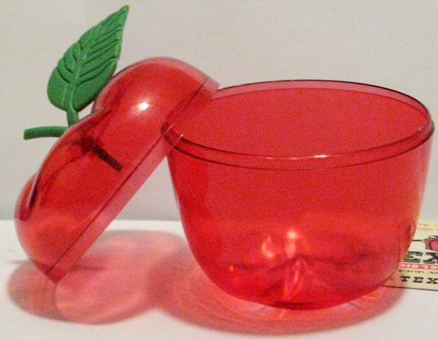 מארז פלסטיק תפוח קטן לסוכריות וממתקים - 1220