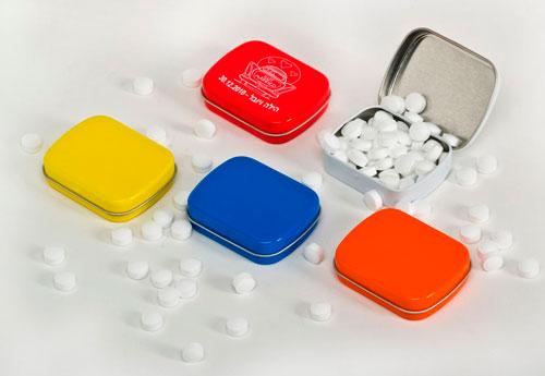 קופסאות סוכריות עם לוגו