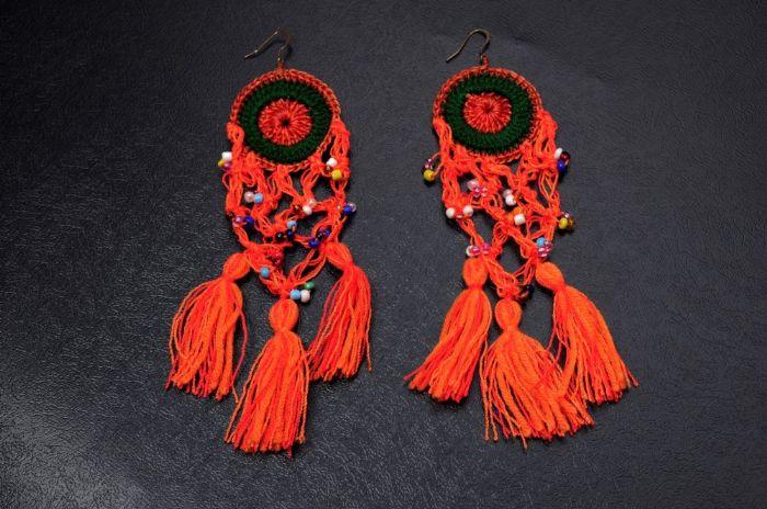 American Indian Dream Catcher Earrings