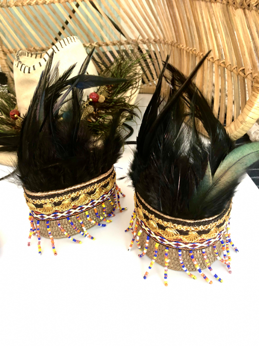 African ankle cuffs