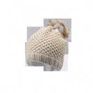 כובע צמר פונפון פרווה
