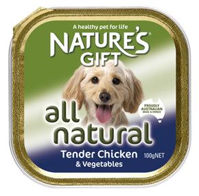 Natures Gift עוף וירקות 100 גרם