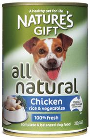 Natures Gift עוף אורז וירקות 380 גרם