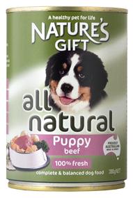 Natures Gift גורים בקר 380 גרם