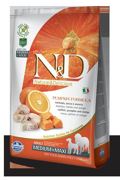 N&D כלב סלמון 12 קג נטול דגנים