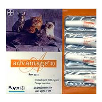 """אמפולות אדוונטג' לחתול במשקל עד 4 ק""""ג (4 יחידות)."""