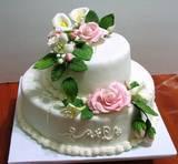 עוגת 2 קומות לחתונה - שנעשתה בסדנא אישית