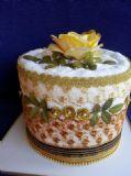 עוגת מגבת ליום הולדת