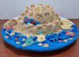 עוגה למסיבת סיום השנה בגן איריס בנופית. עוגה ללא גלוטן - כולל החול של הטירה, הצדפים, הדגים , הכפכפים וכל השאר.