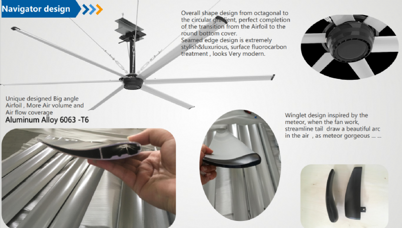 Navigator design - מאוורר תקרה תעשייתי NV-BLDC10