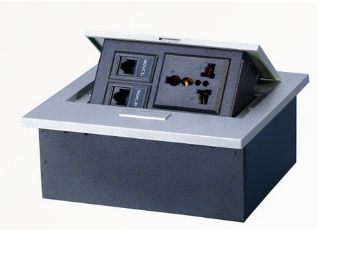 פנל תקשורת וחשמל לשולחן כסף MCS2-S