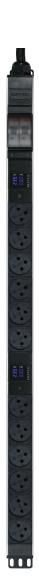 פס שקעים ישראלי N12 + תצוגת מתח וזרם,סיקון   EP32A12ILMD 32A