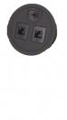 שקע מחשב כפול לשולחן,שחור MCC1-B