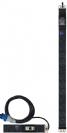 פס שקעים ישראלי N12 + תצוגת מתח וזרם סיקון EP12ILMD-C